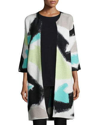 Freestyle Long Printed Jacket, Petite