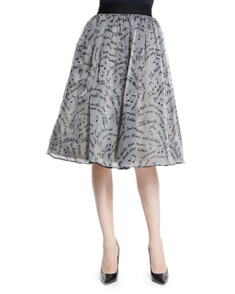 Flynn Ponte Back-Zip Top & Benita Silk A-Line Skirt