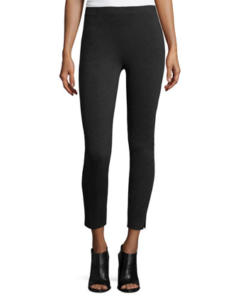Pull-On Jersey Leggings, Charcoal