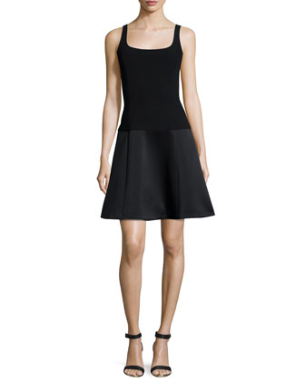 Avanta C. Fit-&-Flare Dress, Black