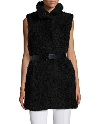 Visterna B. Belted Vest, Black