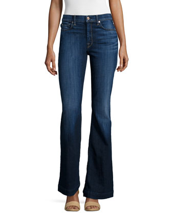 Tailorless Ginger Flare-Leg Jeans, Royal Broken Twill
