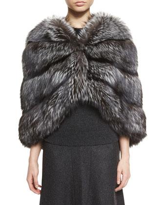 Fox Fur Cape, Silver