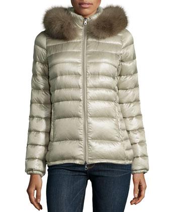 Nefele Puffer W/ Fur-Trim-Hood