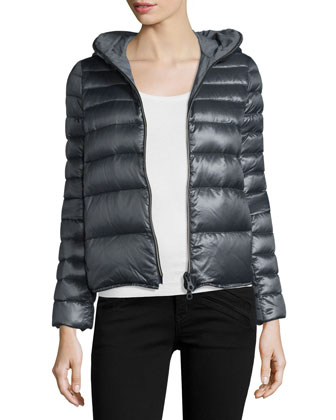 Canie Puffer with Zip-Off 3/4-Sleeves