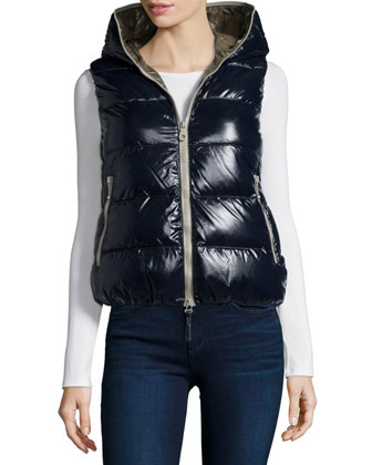 Febe Hooded Puffer Vest