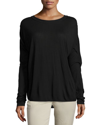 Dropped-Shoulder Long-Sleeve Shirt