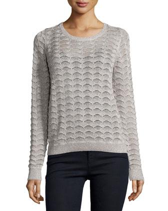 Bernie Long-Sleeve Sweater, Platinum