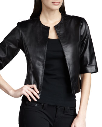 Leather Bolero Jacket