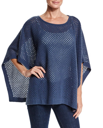 Open-Weave Cashmere Poncho