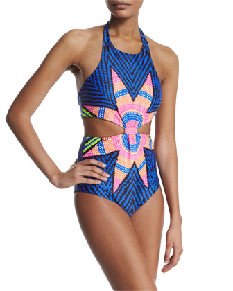 Starbasket Knotted-Front One-Piece Swimsuit