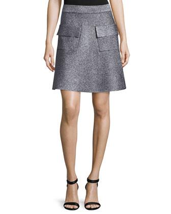 Ali Metallic Crop Top & Aaron A-Line Skirt