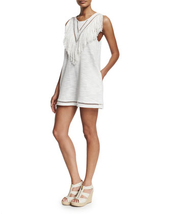 Castaway Fringe Shift Dress
