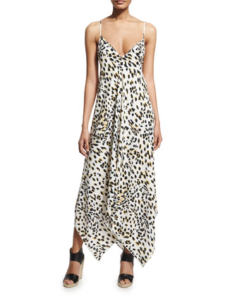 Sandy Leopard-Print Maxi Dress