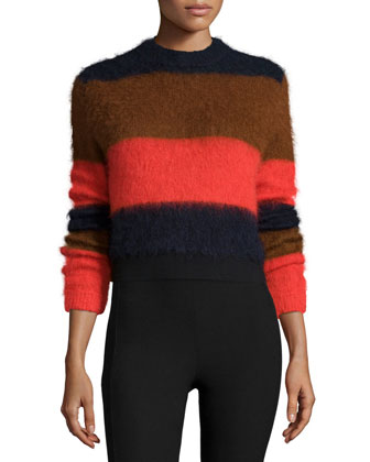 Petra Striped Sweater & Simone Cropped Stretch Pants