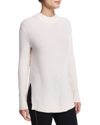 Alexis Cashmere Knit Tunic, Pale Pink