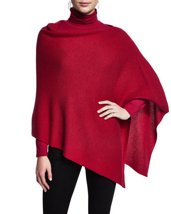 Merino Wool Textured Poncho