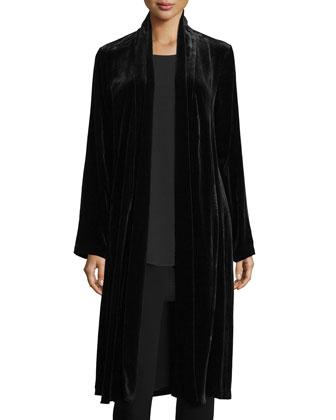 Washable Velvet Kimono Jacket
