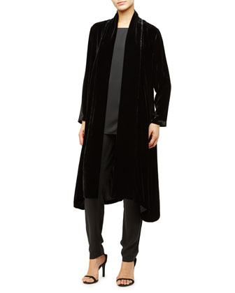 Washable Velvet Kimono Jacket, Women's