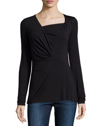 Bryant Long-Sleeve Top, Black