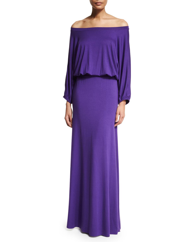 Aurora Off-the-Shoulder Maxi Dress, Size: L/10-12, Royale - Rachel Pally