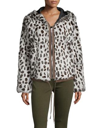 Francois Hooded Zip-Front Jacket & Jagger Skinny Ankle Jeans
