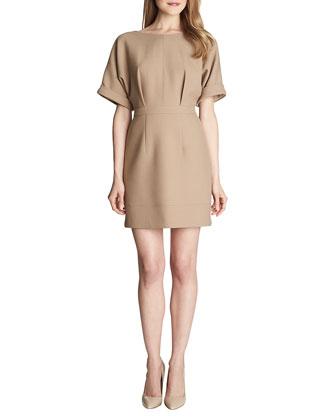 Ava Cuffed-Short-Sleeve Dress