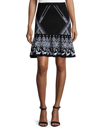 Jacquard Mermaid Skirt