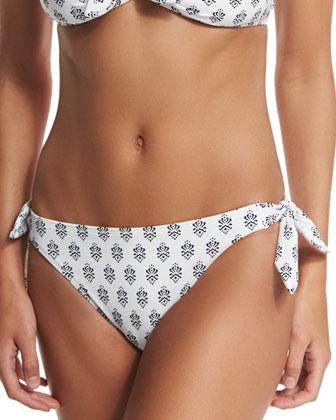 Messa Printed Bandeau Swim Top, Tie-Side Swim Bottom & Printed ...