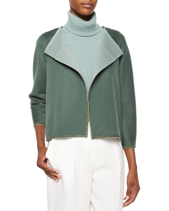 Odene Reversible Wool-Cashmere Topper Jacket, Women's
