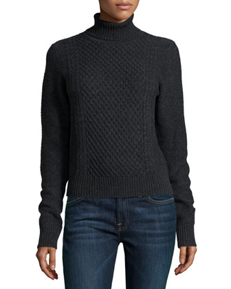 Atticus Turtleneck Sweater, Charcoal