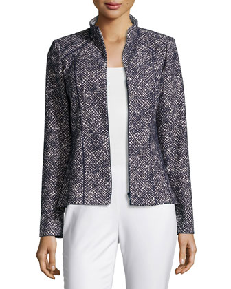 Amia Winsome Novelty Jacket, Navy Multi, Women's