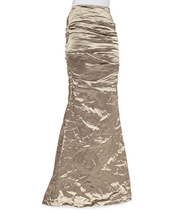 Techno Metal Mermaid Skirt, Cava