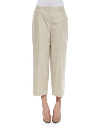Cropped Straight-Leg Pants, Women's