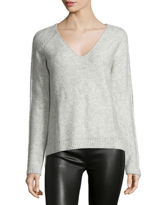 Rafferty V-Neck Sweater, Avalanche
