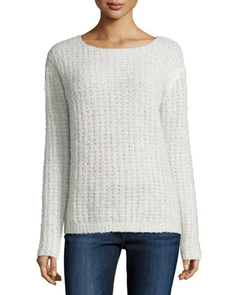 Teagan Round-Neck Sweater, Parasol