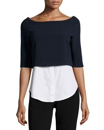Burgess Admiral Crepe Layered Top