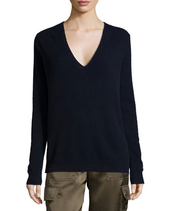 Adrianna Cashmere V-Neck Sweater