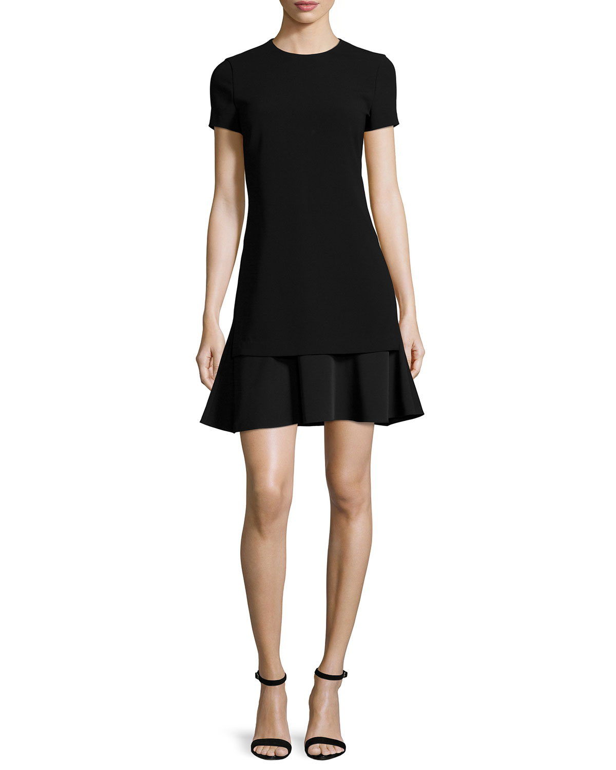 Malkan Admiral Crepe Dress, Size: 0, BLACK - Theory
