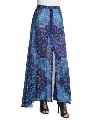 Kiss the Sky Maxi Skirt, Blue
