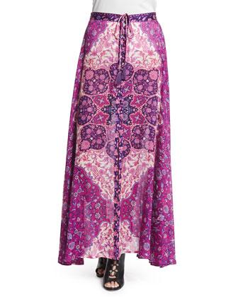 Kiss the Sky Maxi Skirt, Violet