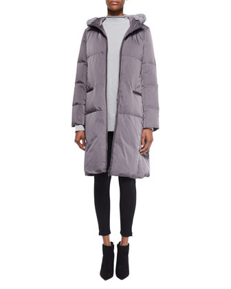 Lorna Down Coat W/ Mink Fur Trim , Women's