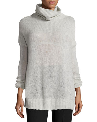 Philipa Knit Cashmere Turtleneck Sweater, Lora Layered Satin Cami Top & ...