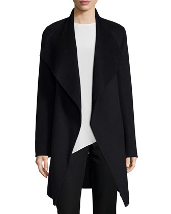 Double-Face Long Wrap Coat