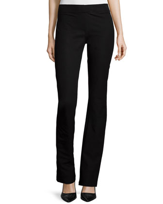 Lex Flare Legging Pants, Black