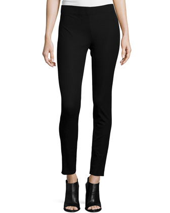 Stretch Legging Pants, Black
