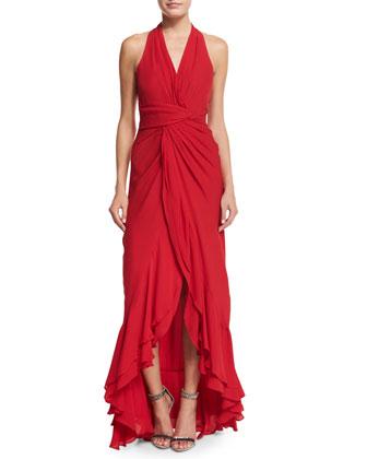 Century Sleeveless V-Neck Gown