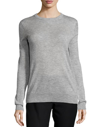 Cashmere Knit Crewneck Sweater
