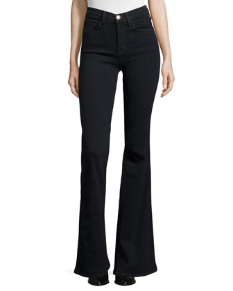 The Girl Crush Flare-Leg Jeans, Tar