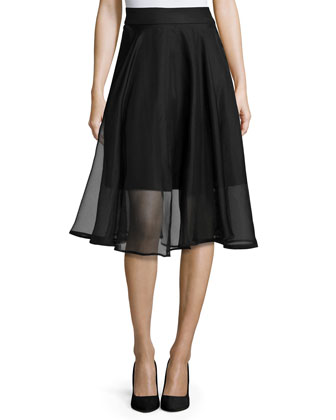 Silk Organza Circle Skirt